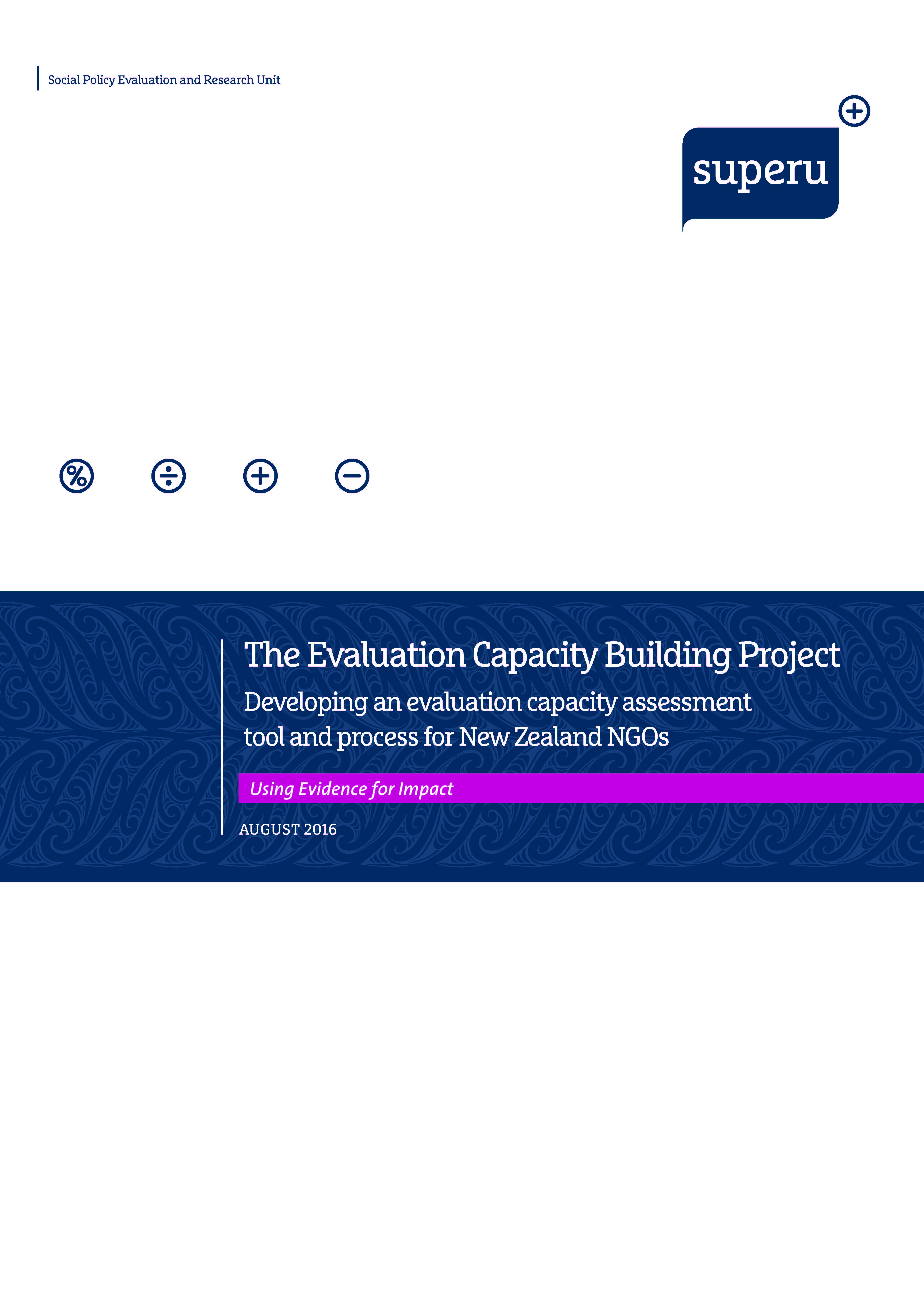 Cover: Evaluation Capacity