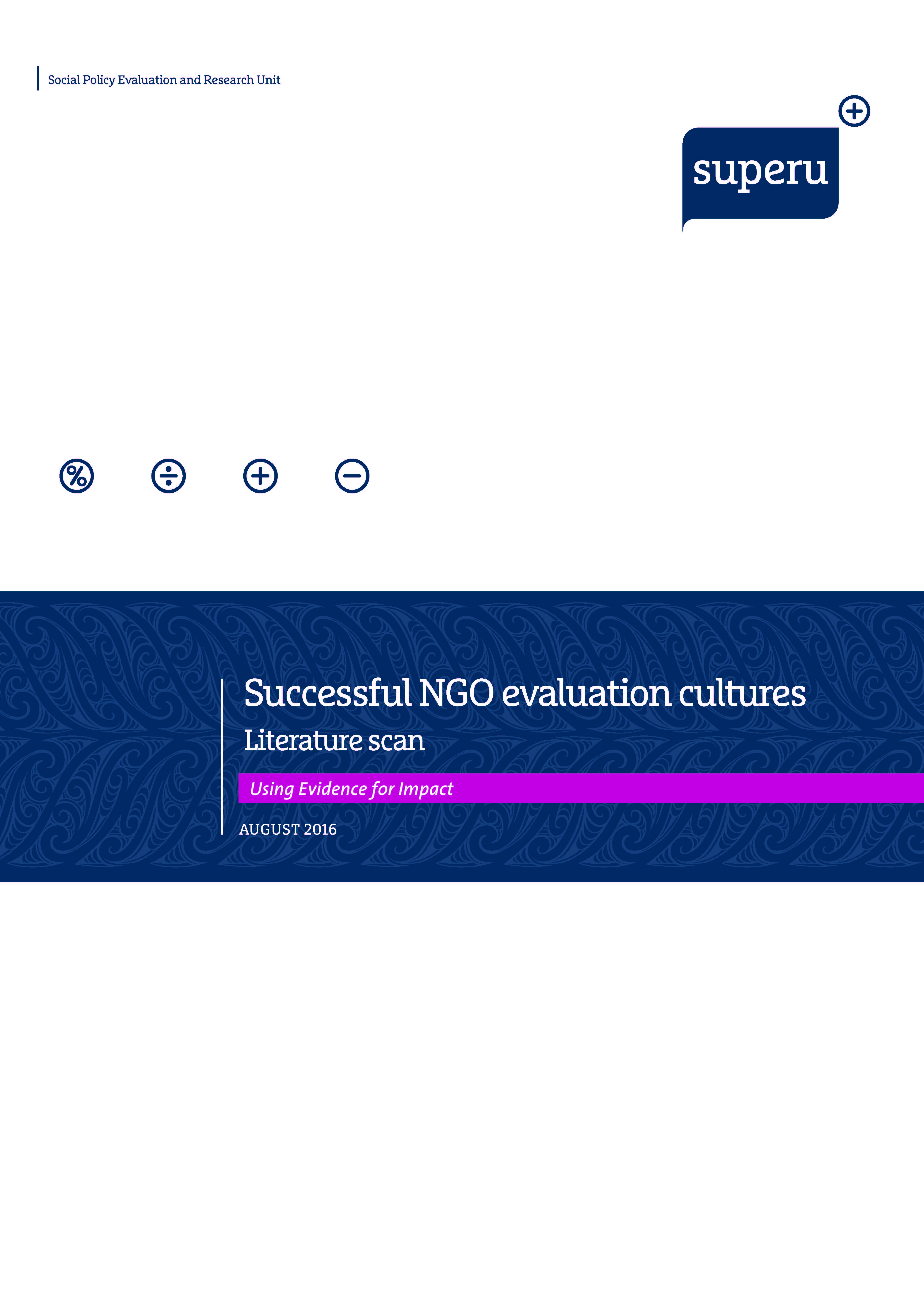 Cover: NGO Evaluation Cultures