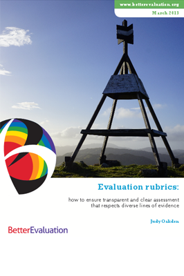 Cover: Evaluation Rubrics